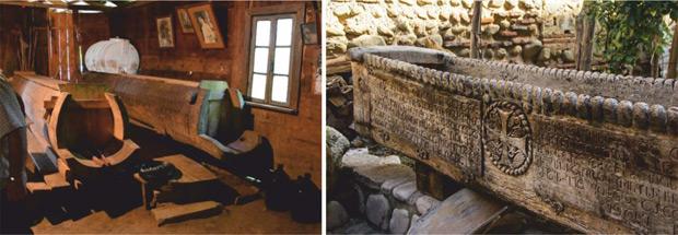 Традиционный грузинский метод виноделия предполагает не только выдержку вина в квеври, но и массу старинных технологических приемов, одним из которых является выдавливание вина босыми ногами в специальном устройстве сацнахели — длинной емкости, по форме напоминающей лодку или ванну. Сацнахели делают из цельного ствола дерева или из цельного камня известняка. Выдавленный сок стекает в квеври через специальное отверстие в сацнахели.