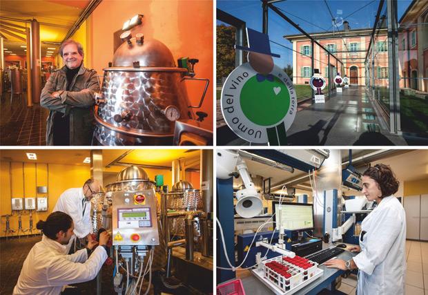 Донато Ланати в лаборатории Энозис