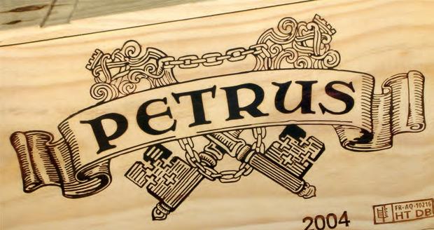 Этикетка вина Петрюс