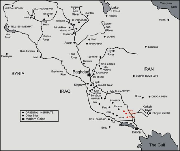 карта месопотамии