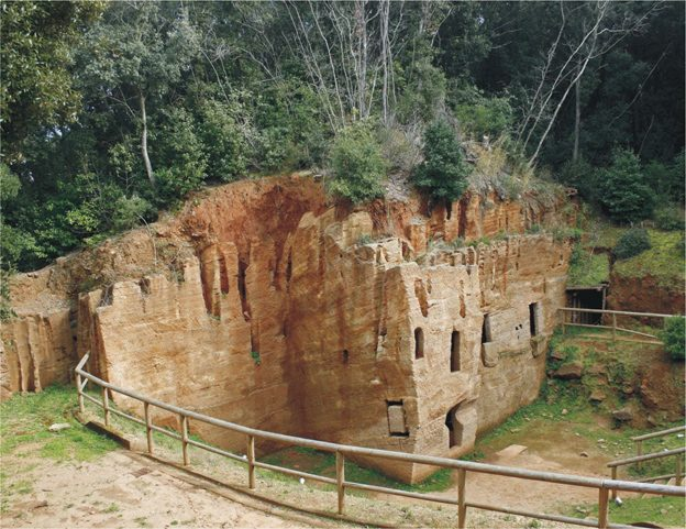 Excavations of Populonia, a large Etruscan necropolis in Tuscany