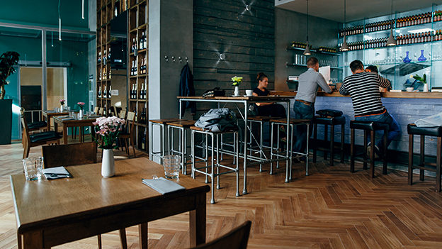 Brix II Wine Restaurant. Moscow, Russia