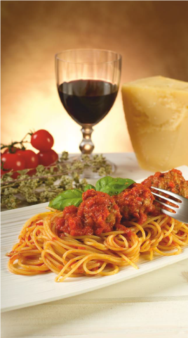 An Italian Romance: Wine and Pasta. Bolognese