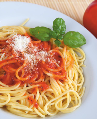 An Italian Romance: Wine and Pasta. Pasta with Tomato Sauce