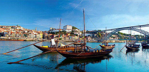 Traditional boats on the Douro River in Porto