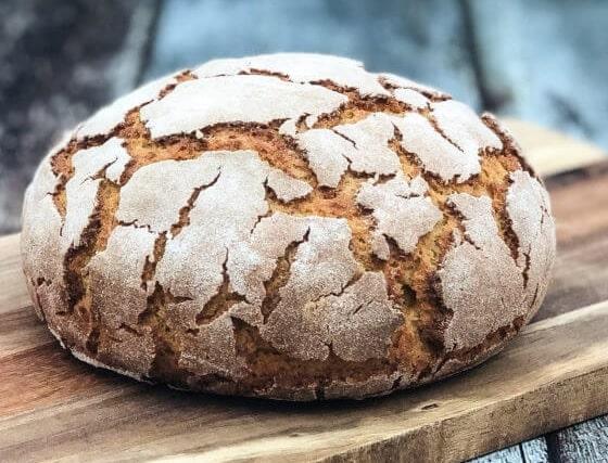 Broa, a crusty Portuguese cornbread